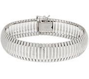 Italian Silver Polished & Diamond Cut Cubetto Bracelet - J358095