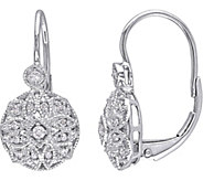 Diamond Filigree Earrings, 14K White Gold, 1/8cttw, Affinity - J376495