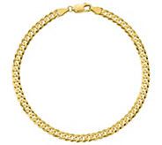 14K Gold 9 Mens Curb Link Bracelet, 7.6g - J384395