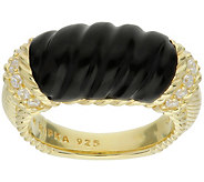 Judith Ripka 14K Gold-Clad Carved Onyx Ring - J387795