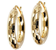 Bronzo Italia 1 Round Diamond Cut Hoop Earrings - J390495