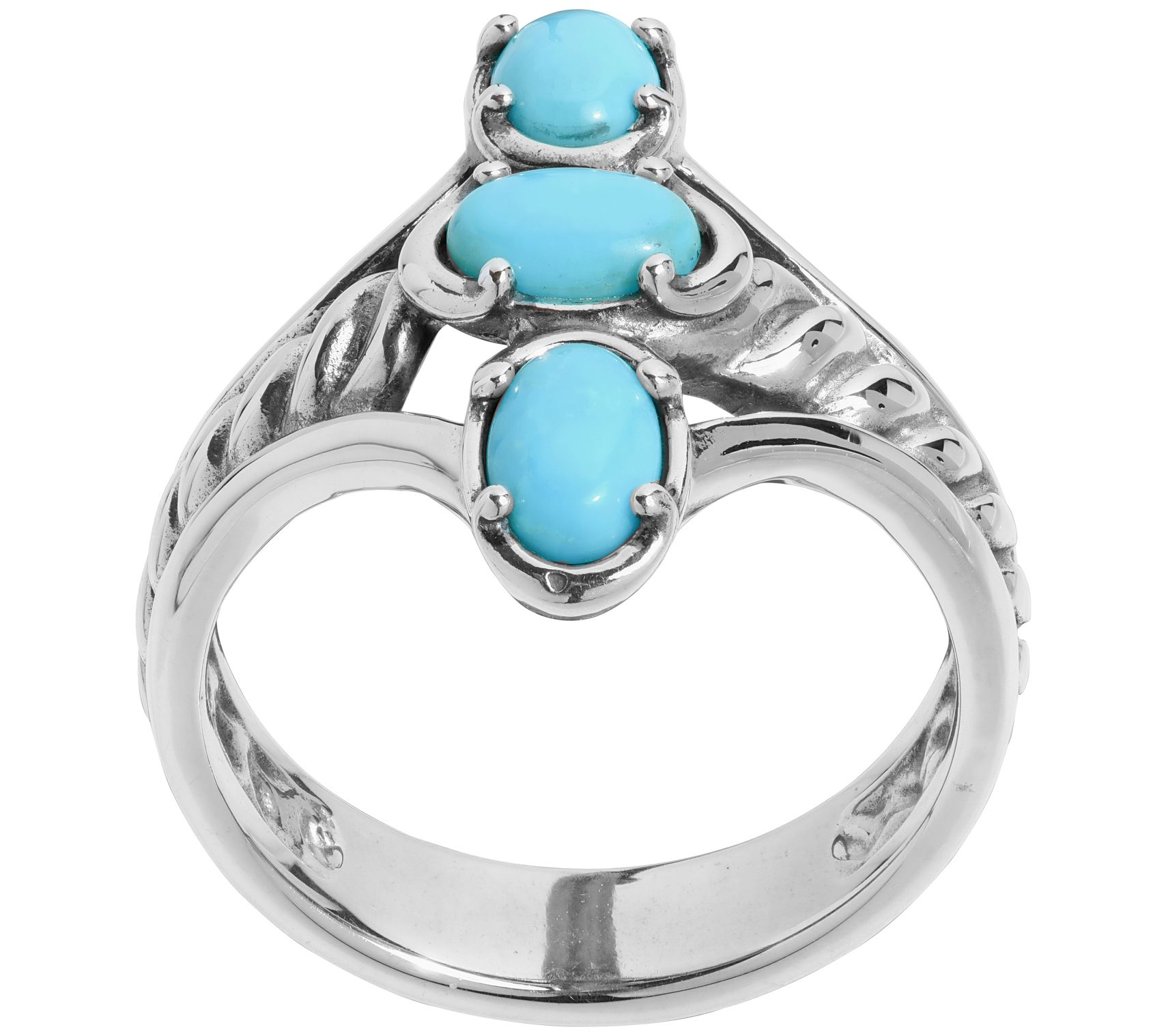 5.70ctw Genuine Turquoise Round /& .925 Silver Plated Cocktail Solitaire Rings