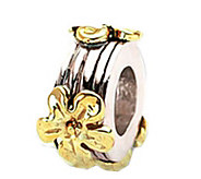 Prerogatives Sterling and 14K Gold Flower Bead - J109296