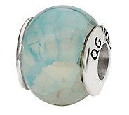 Prerogatives Sterling Light Blue Crackle AgateGemstone Bead - J298196