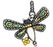 Barbara Bixby Sterling & 18K Multi-Gemstone Dragonfly Charm - J309496