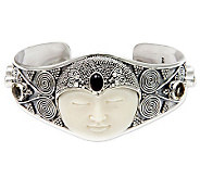 Novica Artisan Crafted Sterling Queen Cuff - J310796