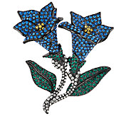 Joan Rivers Jeweled Blossoms Pave Bluebells Pin - J318696