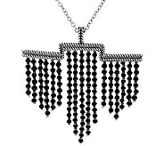 American West 48.0 Cttw. Black Spinel Sterling Silver Necklace - J321996