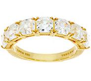 Judith Ripka Sterling/14K Clad 4.65 cttw Asscher Cut Diamonique Ring - J333496