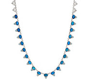 Judith Ripka Sterling Doublet  & Blue Topaz Necklace - J350296
