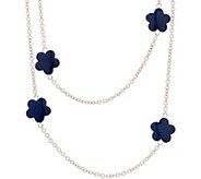 Lauren G Adams Enamel 42 Daisy Station Necklace - J354096