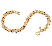 Italian Silver Love Knot Link 6-3/4 Bracelet, 8.2g - J354596