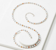 American West Sterling Silver Gemstone Bead 32 Necklace - J355696