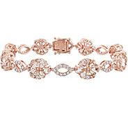 14K 12.45 cttw Gemstone & 1-1/4 cttw Diamond Flower Bracelet - J378496