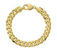 14K Gold 8 Beveled Curb Link Bracelet, 30.9g - J381496