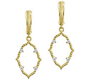 Judith Ripka 14K Gold Diamond Earrings - J391796