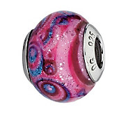 Prerogatives Purple/Blue/Pink Italian Murano Glass Bead - J300397