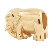 Prerogatives 14K Yellow Gold-Plated Sterling Elephant Bead - J302797