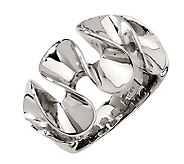 Stainless Steel Wavy Ring - J306797