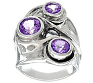 Hagit Sterling Silver 3 cttw. Gemstone Ring - J335797