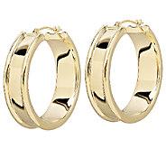 EternaGold Bold Cigar Band Hoop Earrings, 14K Gold - J336297
