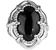 Carolyn Pollack Bold Sterling & Oval Gemstone Ring - J339897