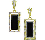 Judith Ripka 14K Clad Onyx & Diamonique Earrings - J343797
