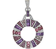Judith Ripka Sterling 4.80 cttw Multi Gemstone Circle Enhancer - J347297