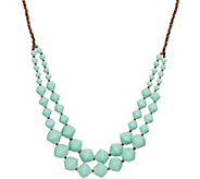 31 Bits Double Layer Beaded 30 Voyager Necklace - J349297