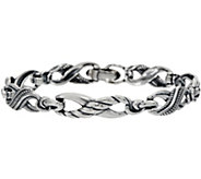 Carolyn Pollack Sterling Silver Average Infinity Link Bracelet 21.5g - J349797