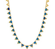 Judith Ripka Sterling/14K Clad Doublet & Blue Topaz Necklace - J350297