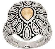 JAI Sterling Silver & 14K Gold Lotus Petal Ring - J351697