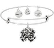 Alex and Ani Four Leaf Clover Charm Bangle - J351897
