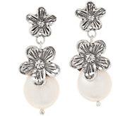 Or Paz Sterling Silver Cultured Pearl Flower Earrings - J358697