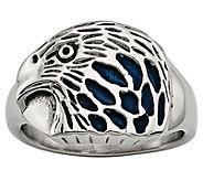 Steel by Design Mens Polished Eagle Ring - J385497