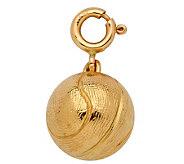 14K Yellow Gold 3-D Basketball Charm - J107998