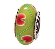 Prerogatives Sterling Green and Red Glass Bead - J109098