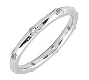 Simply Stacks Sterling Aquamarine Multi-stone Stackable Ring - J298598