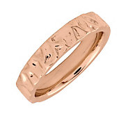 Simply Stacks Sterling 18K Rose Gold-Plated Wave 4.25mm Ring - J298998