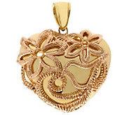 Arte dOro Polished Puffed Heart with Detail Pendant, 18K Gol - J308998