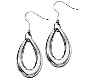 Stainless Steel Polished Teardrop Dangle Earrings - J310498