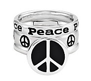 Simply Stacks Sterling Peace Ring Set - J312698