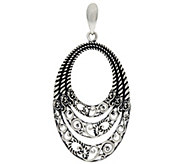 Carolyn Pollack Sterling Silver Signature Three Row Bold Enhancer - J329598