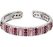 Judith Ripka Sterling Multi Gemstone Cuff Bracelet - J350298