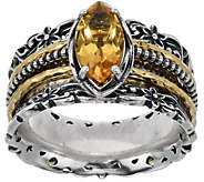 Or Paz Sterling Marquise Gemstone Spinner Ring - J350398