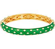 Heritage Jewelry Diamond Pattern Hinged Enamel Bracelet - J357398