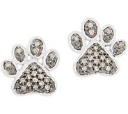 Affinity Diamond 1/7ct Paw Print Studs, Sterling - J358298