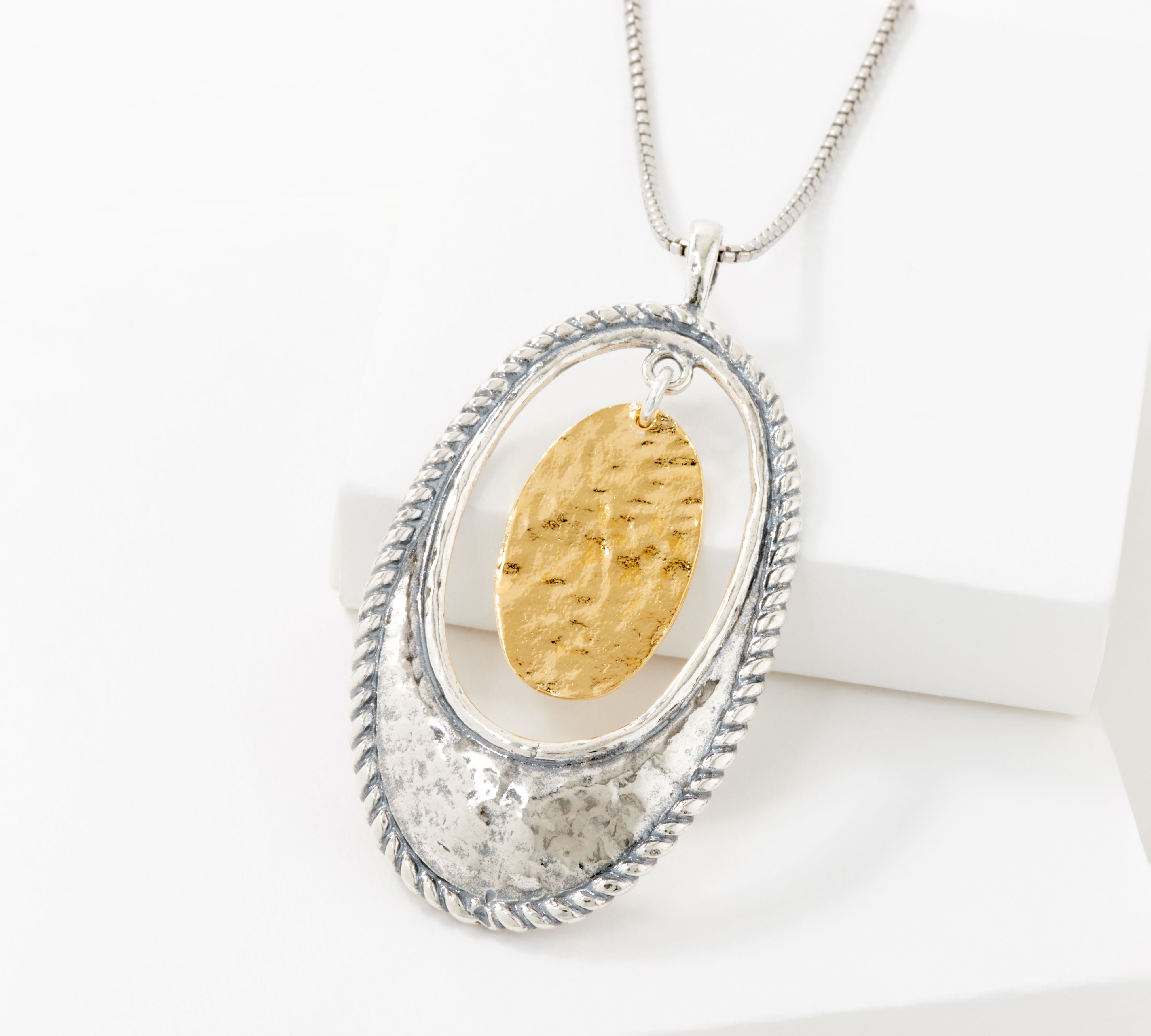 """$20 off this oval pendant w/ 24"""" chain"""