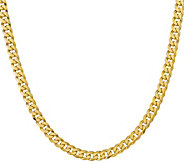 14K Gold Flat Beveled 24 Curb Necklace, 79.8g - J378398