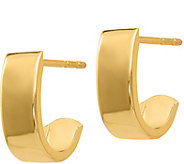 14K Gold Demi Hoop Earrings - J379198